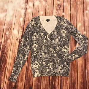 Express Snake-print embellished sweater